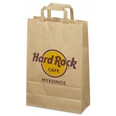 d7366de3298 Χάρτινες σακούλες οικολογικές με χάρτινο χεράκι στριφτό ή πλακέ