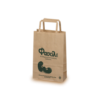 Ecological paper bag with paper handle