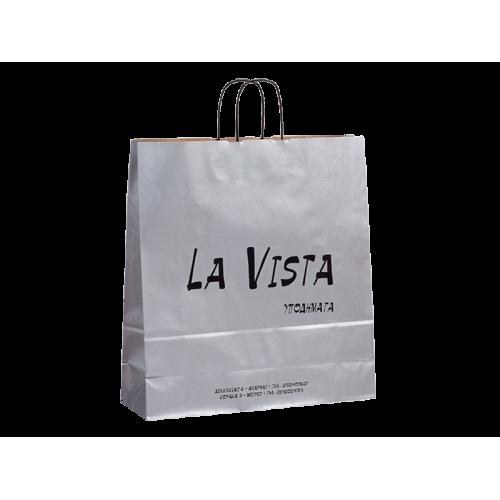 Χάρτινες οικολογικές τσάντες με φόντο