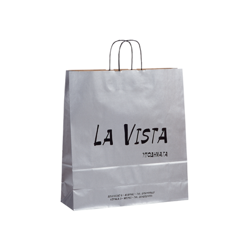 Ecological paper bag with background