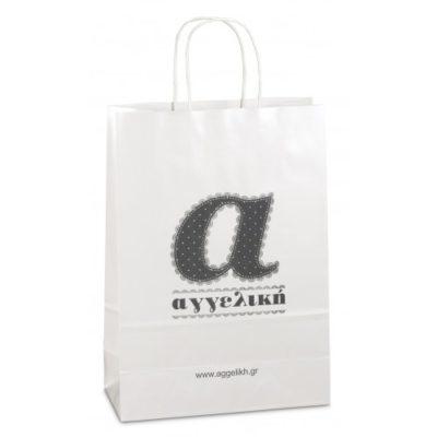 Χάρτινες τσάντες πολυτελείας με κορδόνι γυαλιστερες