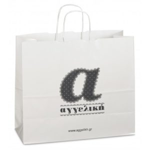Luxury glossy paper bags with cord