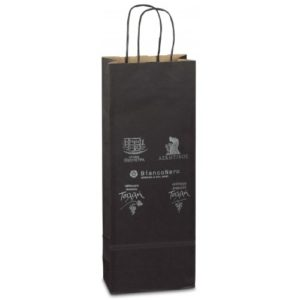 Paper bags for drinks with twisted paper handle