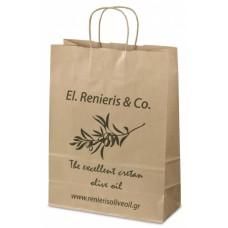 Χάρτινες σακούλες καταστήματος οικολογικές με στριφτό χεράκι