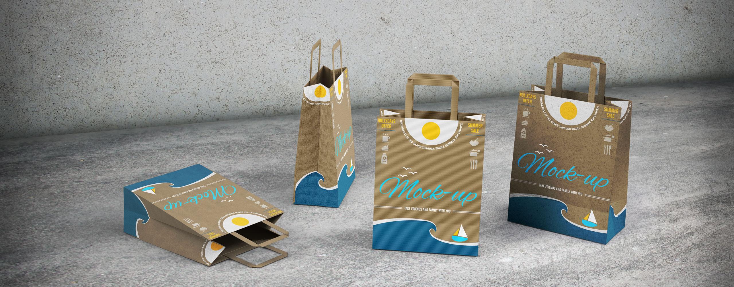 Χάρτινες τσάντες, Πλαστικές τσάντες, Υφασμάτινες τσάντες, Οικολογικές τσάντες