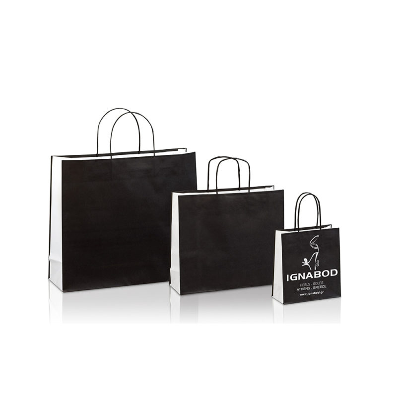 Ecological paper  bags with background IGNABOD