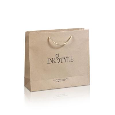 Χάρτινες τσάντες πολυτελείας ματ IN-STYLE