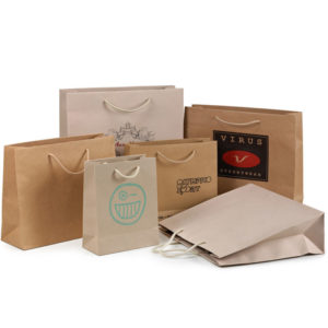 8e948fb261 Paper kraft bags with cord Oikosac