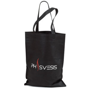 Black non woven bags with flat handle